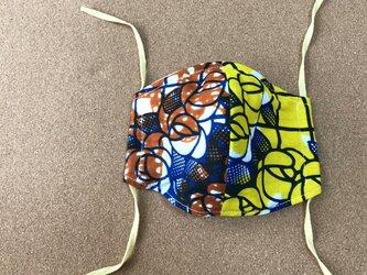 e160-アフリカ布マスクの画像