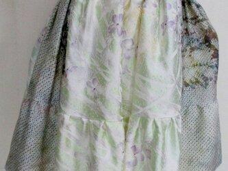 4896 訪問着と絞りで作ったミニスカート #送料無料の画像