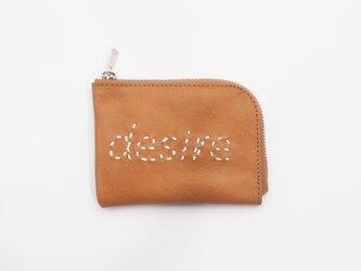 cow leather wallet [desire](黄)11×8/小銭入れ/カード入れ/sw001dの画像