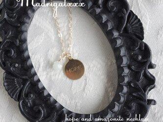 HOPEと希望の石のネックレス*14KGF*アマゾナイトの画像