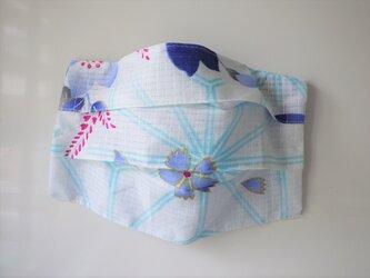 プリーツマスクカバー 浴衣桔梗2の画像