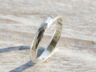 槌目 シルバープレーンリング 3.0mm幅 でこぼこ シルバー950|SILVER RING 指輪 シンプル|150の画像