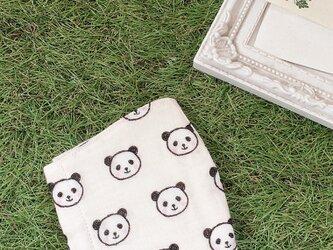 立体マスク パンダ オフホワイト キッズ オトナの画像