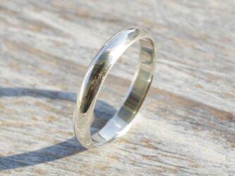 鏡面 シルバープレーンリング 3.0mm幅 ミラー シルバー950|SILVER RING 指輪 シンプル アクセサリー|151の画像