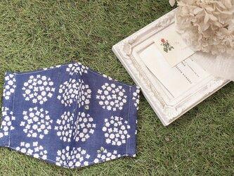 立体マスク 北欧 花 サークルフラワー キッズ オトナ の画像