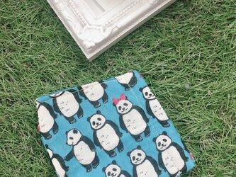 立体マスク パンダ ブルー キッズ オトナの画像