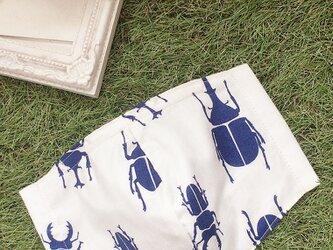 夏向け 立体マスク  キッズ オトナ コットン カブトムシ クワガタの画像