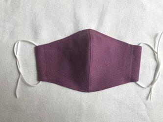 2枚組 「小さめ」リネンマスクノーズフィッター入り newモーブピンクの画像