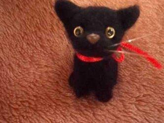 羊毛フェルト黒猫ちゃんの画像