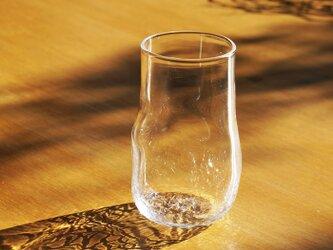 無色透明のグラス - 「KAZEの肌 」#356・ 高さ12cmの画像