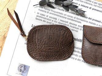 イタリア革のコインケース/ショコラブラウンの画像