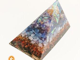 [受注制作]フィボナッチ・スパイラルのピラミッドオルゴナイト 大サイズ pyraf20071100004の画像