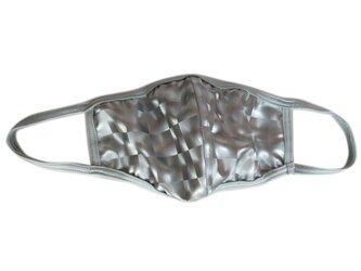 立体シーム・カーブ型3DPUコーティング水着マスク・シルバーの画像