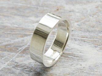 鏡面 シルバーフラットリング 6.0mm幅 ミラー シルバー950|SILVER RING 指輪 シンプル アクセサリー|155の画像
