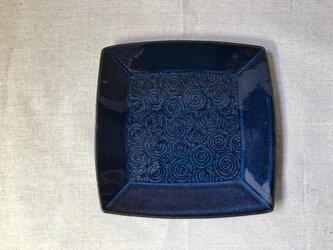 NO.24角皿(渦巻き柄)青の画像