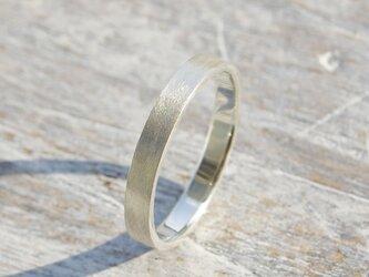 つや消し シルバーフラットリング 3.0mm幅 マット シルバー950 SILVER RING 指輪 シンプル 152の画像