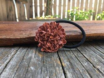 革花のヘアゴム MSPサイズ  サーモンピンクの画像
