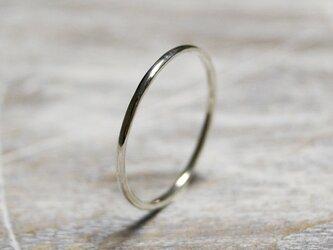 鏡面 シルバープレーンリング 1.2mm幅 ミラー シルバー950|SILVER RING 指輪 シンプル アクセサリー|199の画像