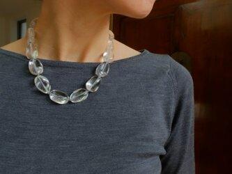 【再販】清々しい気持ちに。水晶のネックレスの画像