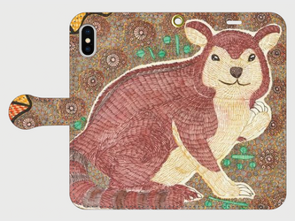 手帳型iPhoneケース/スマホケース/セスジキノボリカンガルーの画像