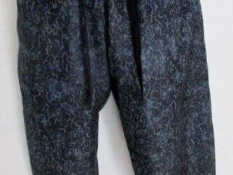 4908 着物で作ったサブリナパンツ #送料無料の画像