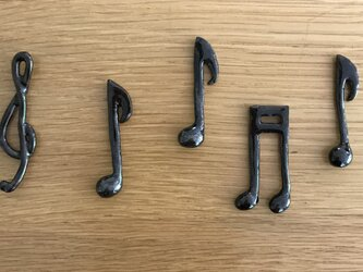 音符♪の箸置き(5個セット)の画像