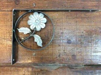 数量限定 FI アイアン 棚受け アングル  溶接 飾り L字アングル 溶接材料 花 インダストリアルの画像