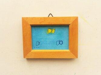 「蝶々」小さな絵/一点物/原画 ※額入りの画像