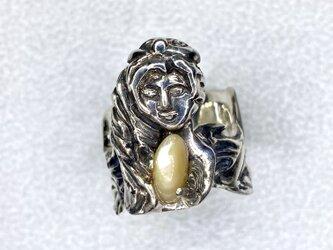 夜光貝と天使の指輪 シルバー925の画像