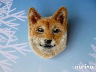 ■羊毛フェルト 柴犬ブローチ(顔)■の画像