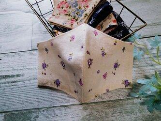 送料無料✴紫の小花がとっても可憐な立体マスクです✴の画像