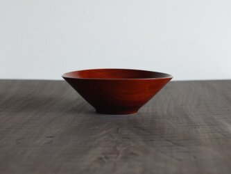 柿渋縁白漆丼 カエデ 19cm x 6.5cmの画像