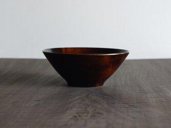 鉄染縁白漆丼 カエデ 19cm x 7.5cmの画像