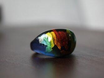 蜻蛉玉*指輪〈金箔入り〉 2020-36の画像