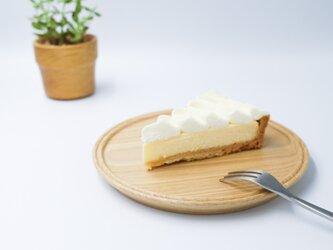 くりのケーキ皿の画像