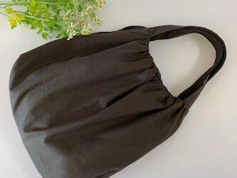 帆布 パンプキンショルダーバッグの画像