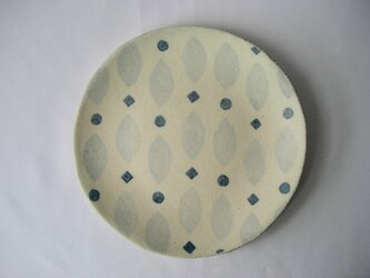 スリップ模様 中皿の画像