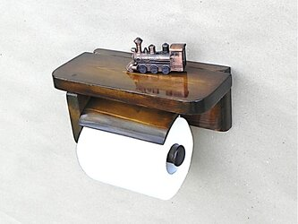 木製トイレットペーパーホルダーVer.5S(ブラウン)の画像