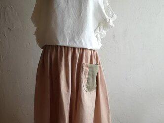 草木染め スカート  ◯64センチ丈◯の画像