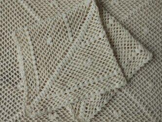 レース編みのハンカチーフ・水木の画像