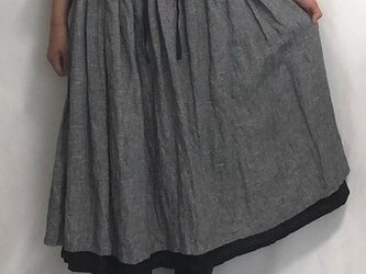 double layered skirt/hound's tooth×blackの画像