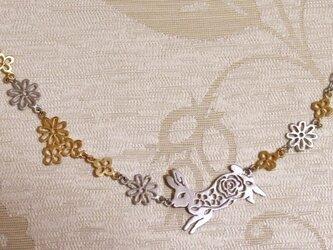 花畑とうさぎネックレスの画像