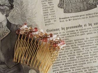ジュエリークロッシェのヘアコーム(M)《ピンク01》【送料無料】の画像