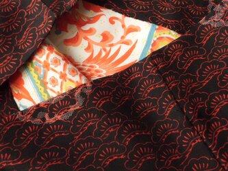 古布の袋・赤 松の画像