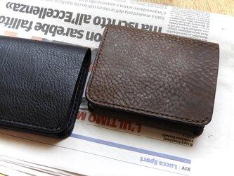 イタリア革の二つ折り財布/ショコラブラウンの画像