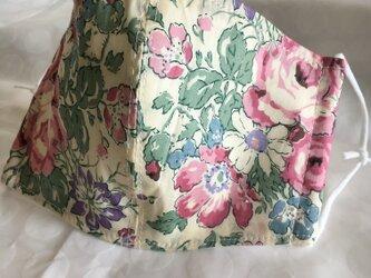 リバティ✳︎大きな花マスクの画像