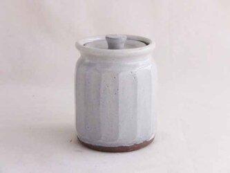 面取りポット(白釉)の画像
