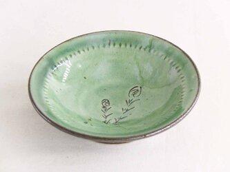 ツクシ線描豆皿(織部)の画像