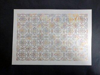 ギルディング和紙A3サイズ クラシック 生成和紙 黃混合箔の画像