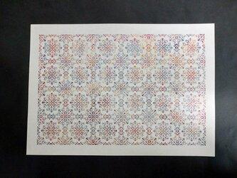 ギルディング和紙A3サイズ クラシック 生成和紙 赤混合箔の画像